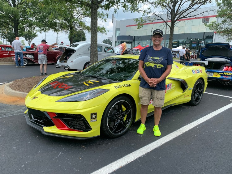 Eighth-generation Corvette coupe in Accelerate Yellow color