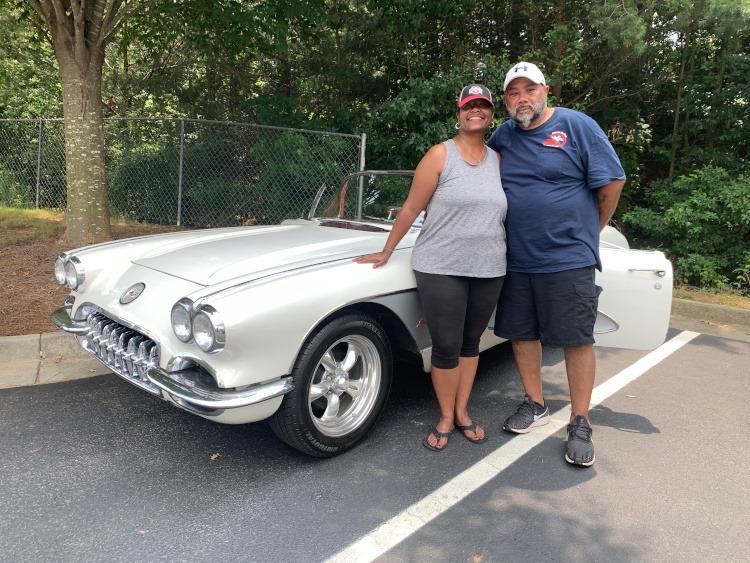 First Generation Snowcrest White Corvette convertible