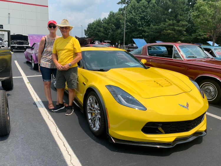 Seventh-generation 2017 Z06 yellow Corvette
