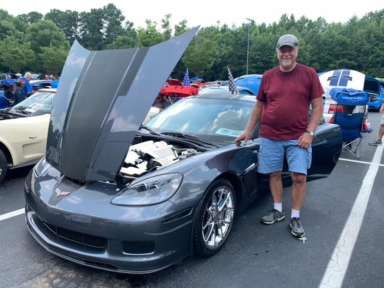 Sixth-generation Cyber Gray Metallic Corvette coupe