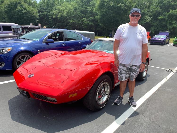 Third-generation Millie Miglia Red Corvette roadster